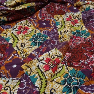 Coton batik multicolore