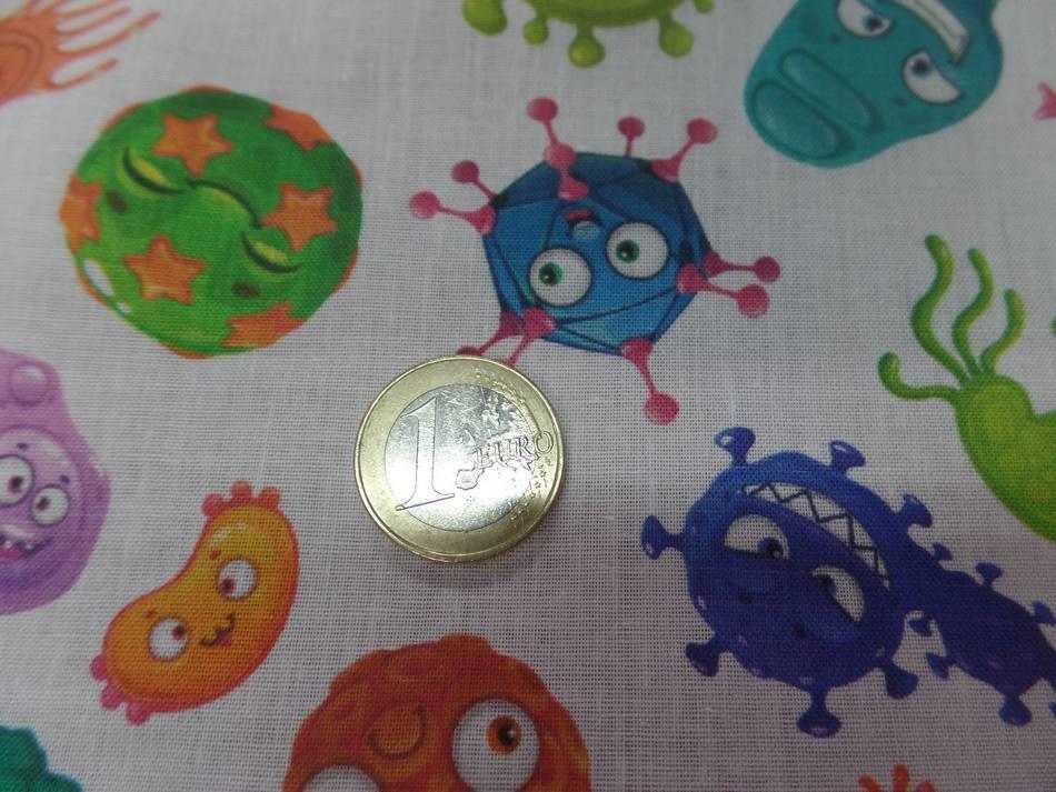 Coton bio imprime corona virus en ligne