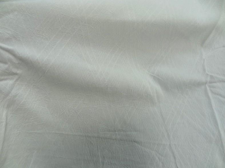 Coton blanc casse effet froisse tisse losanges 1