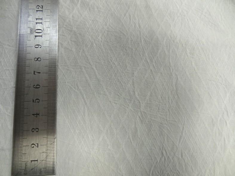 Coton blanc casse effet froisse tisse losanges 2