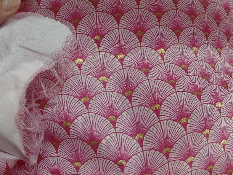 Coton blanc rose or art deco japonais 1