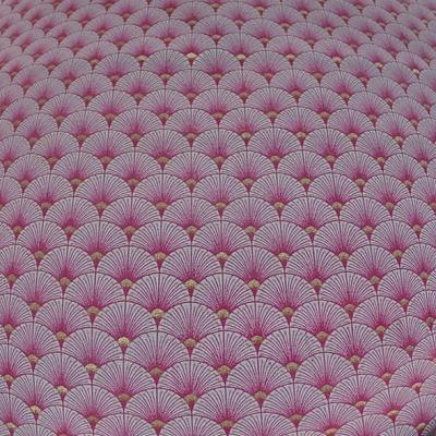Coton blanc rose or art deco japonais 2