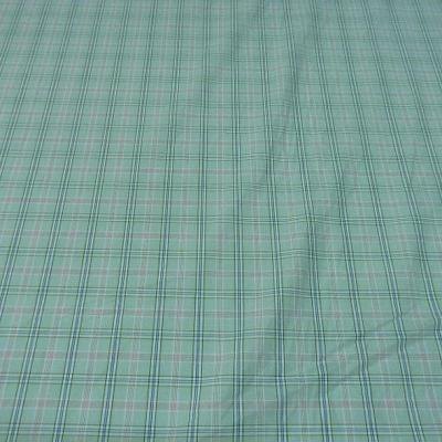 Coton bleu ciel carreaux fins 3