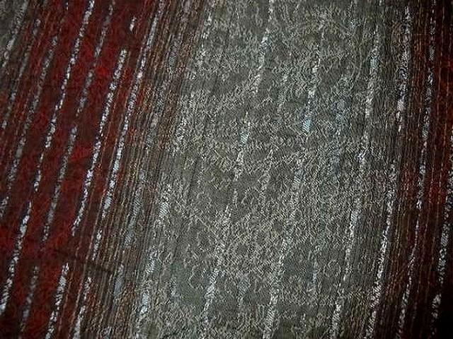 Coton bordeaux gris perle raye lurex 2