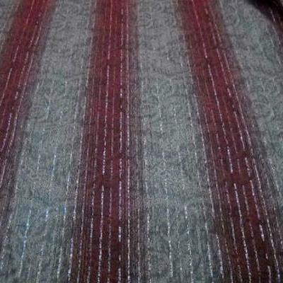 Coton bordeaux gris perle raye lurex 3