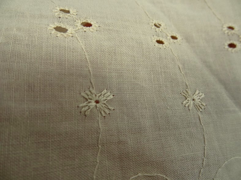 Coton broderie anglaise beige nankin 3
