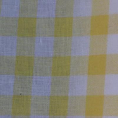 Coton carreaux vichy jaune blanc 1