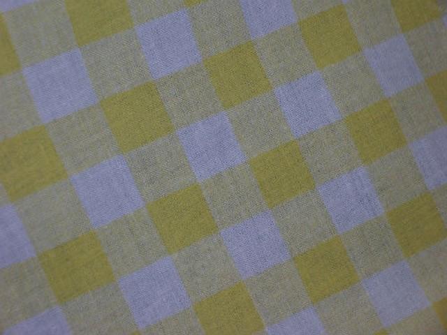 Coton carreaux vichy jaune blanc 2