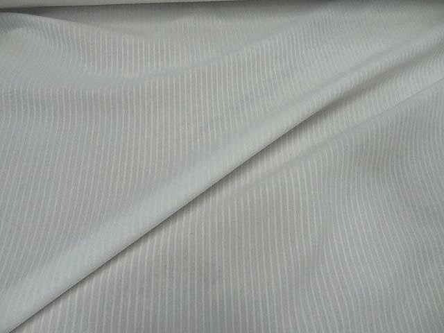 Coton chemise blanc fines rayures relief 1