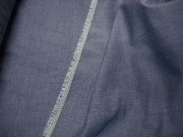Coton chemise bleu jean delave 2