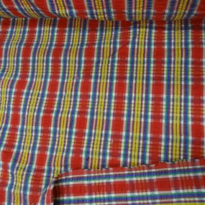 Coton cloque madras rouge jaune 3