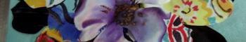 Coton colore decoupe laser fleur petit modele 0