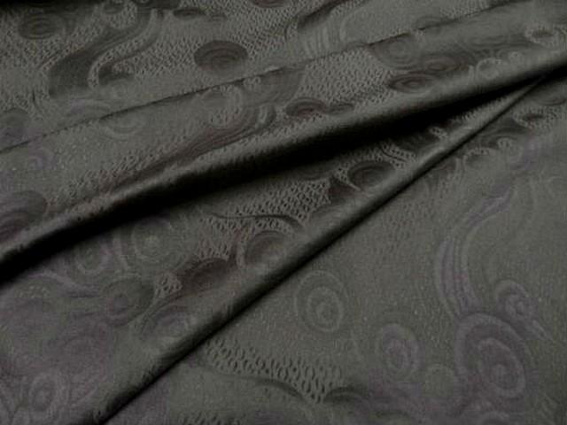 Coton damasse taupe clair motifs volutes 3