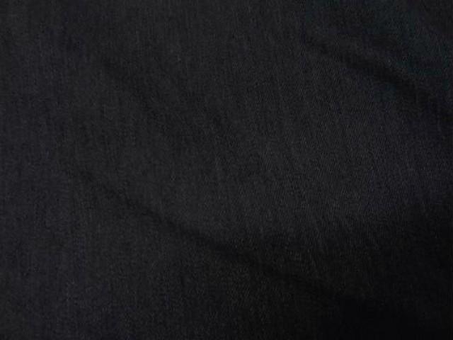 Coton double face gris chine double velours noir 2