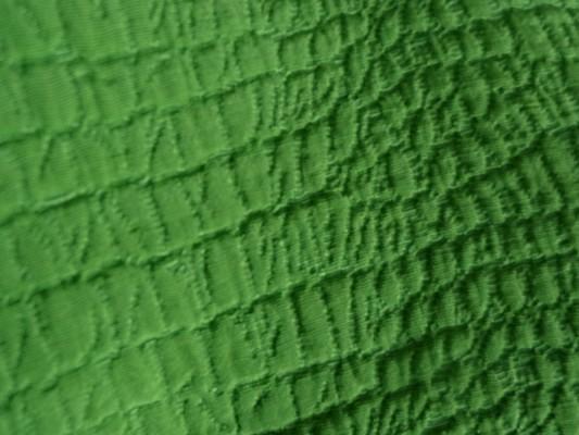 Coton polyester façonné croco vert prairie 3