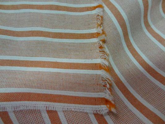 Coton faconne bandes orange rouille 1