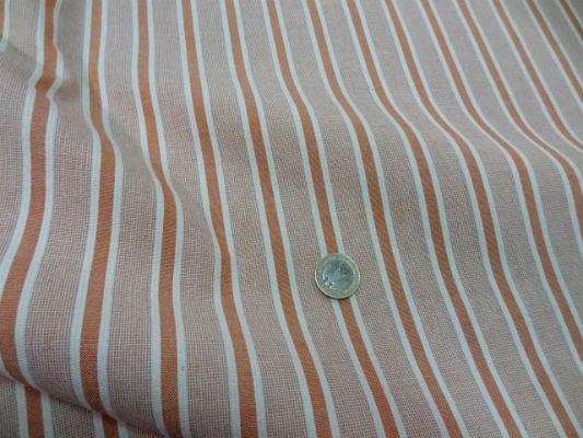 Coton faconne bandes orange rouille 3