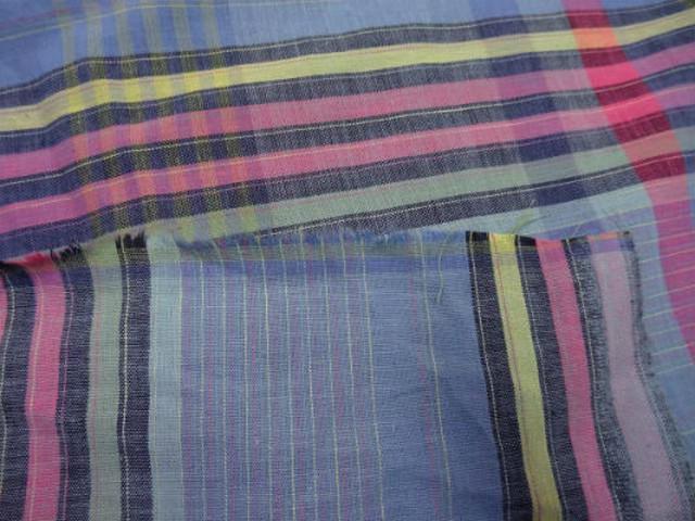 Coton fin bleu madras 3