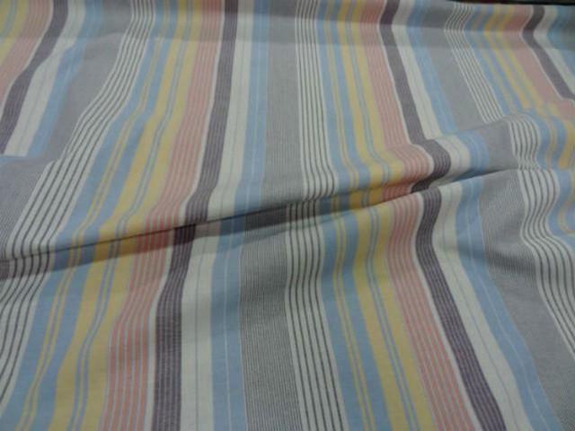 Coton fin imprime rayures multicouleur0 1