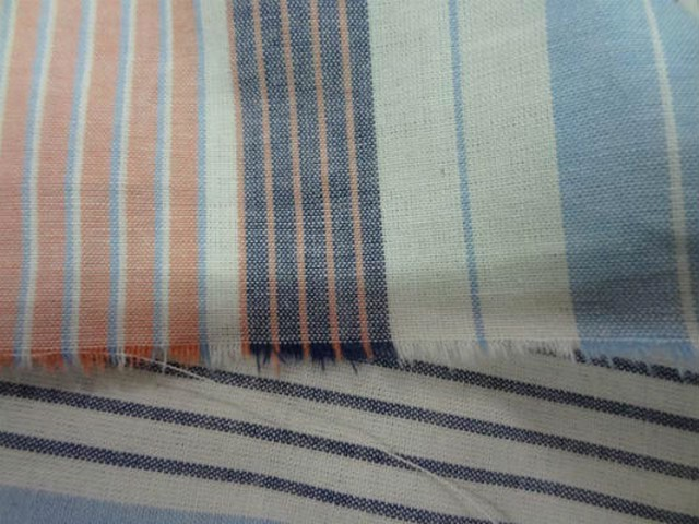 Coton fin imprime rayures multicouleur0 2