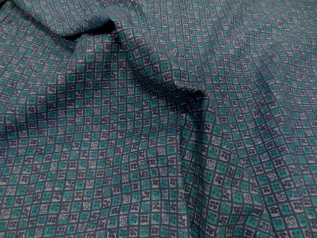 Coton fin petits carreaux cerises bleu vert 3