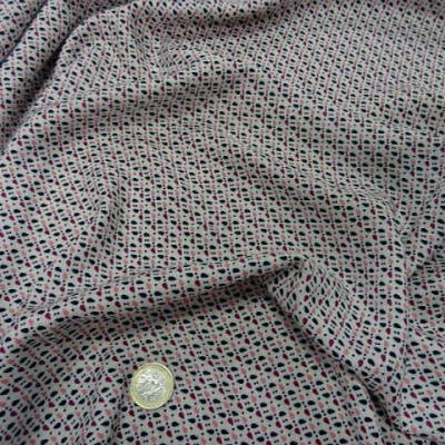 Coton fond blanc points et gouttes 4