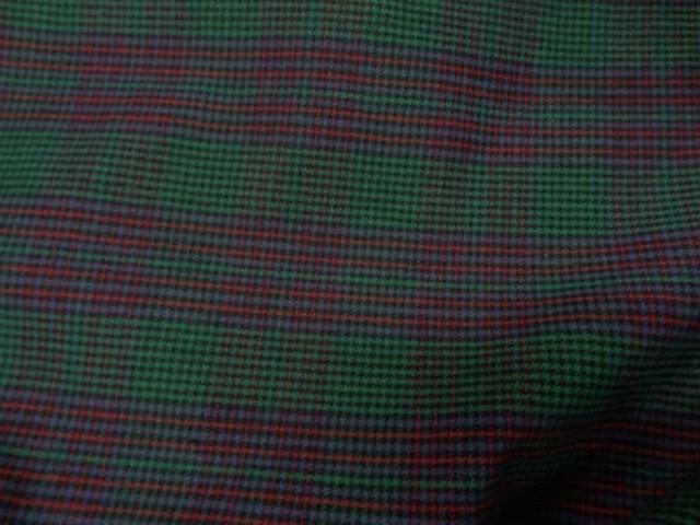 Coton gratte vert rouge a carreaux 2