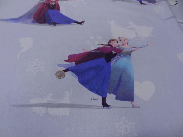 Coton imprime enfant bleu reine des neiges1