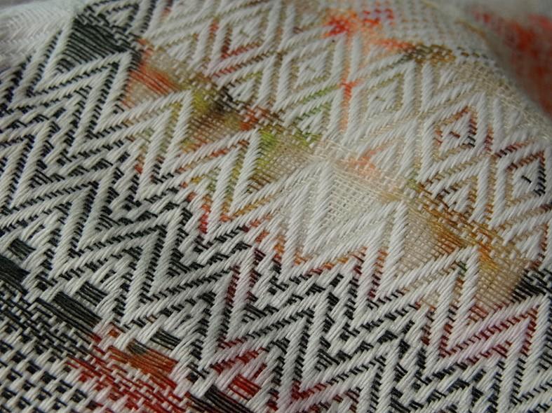 Coton imprime tissage frises amerindien 1 1