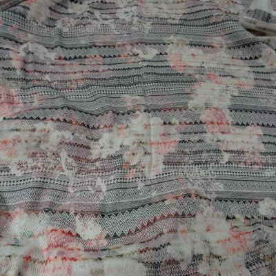 Coton imprime tissage frises amerindien 1