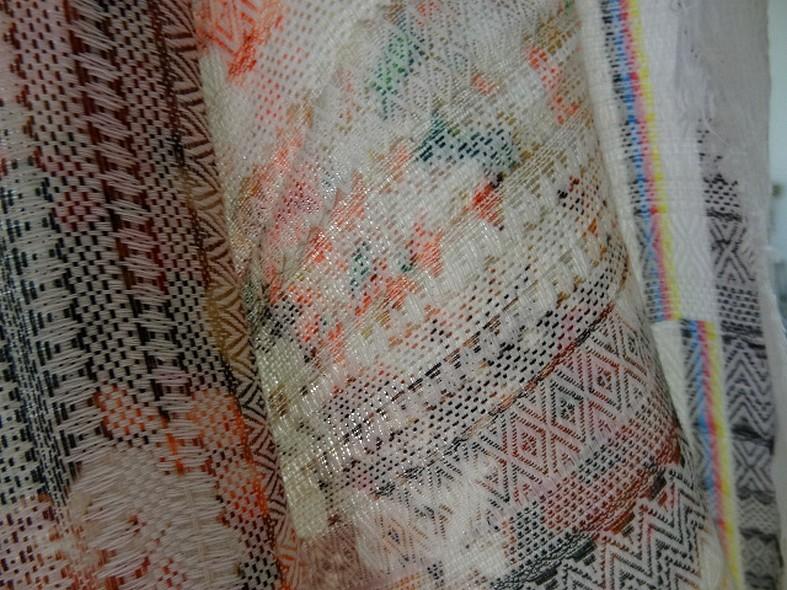 Coton imprime tissage frises amerindien 2