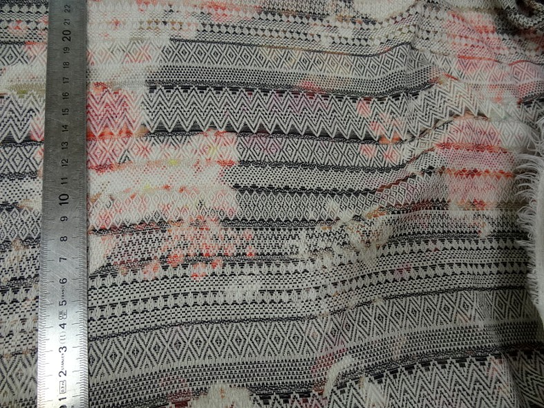 Coton imprime tissage frises amerindien 3
