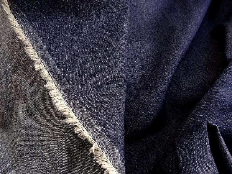 Coton jean fin chemise bleu stone 1