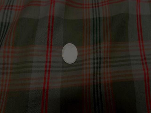 Coton kaki rouge imprime tartan 2