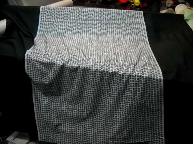Coton leses noires bande blanche a pois gris