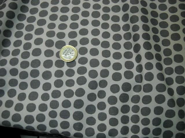 Coton leses noires bande blanche a pois gris 2