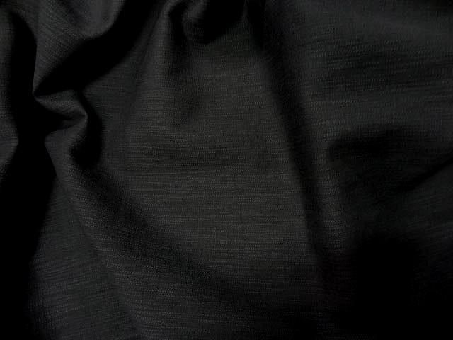 Coton lycra apparence lin noir 1