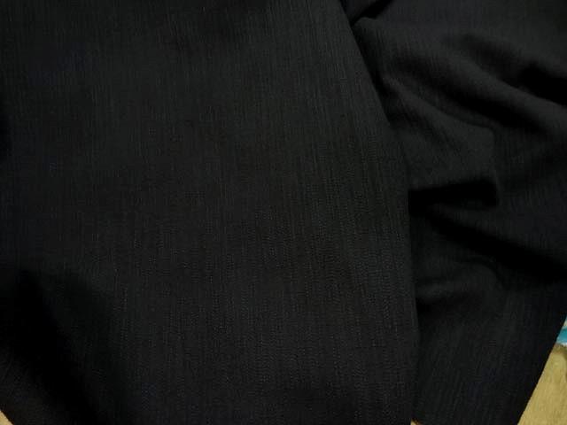 Coton lycra apparence lin noir 2
