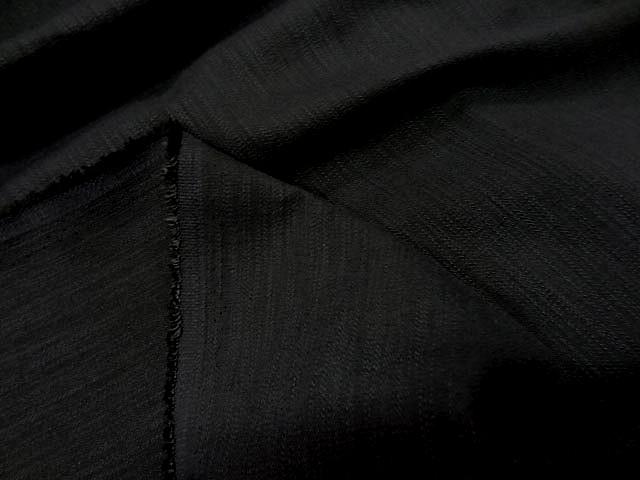 Coton lycra apparence lin noir 3
