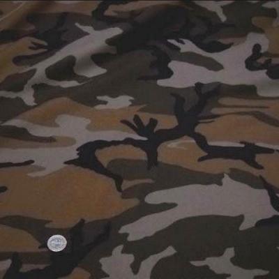 Coton motif camouflage caramel et chaudron 2