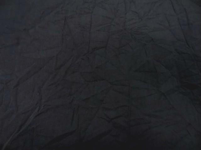 Coton noir froisse permanent 1