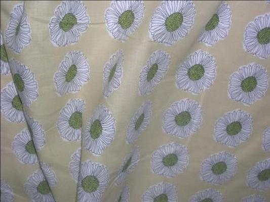 Coton paille imprime fleurs 03