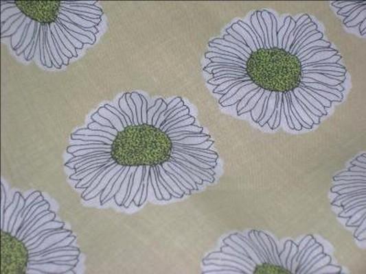 Coton paille imprimé fleurs 3