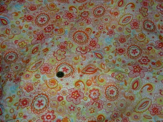 Coton percale imprimé fleurs stylisées 1