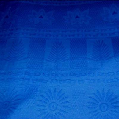 Coton pique bleu roi 4