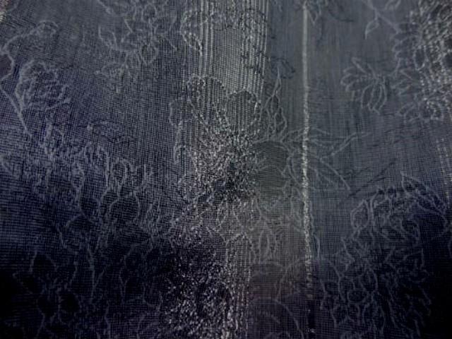 Coton polyester raye bleu gris fondu 3