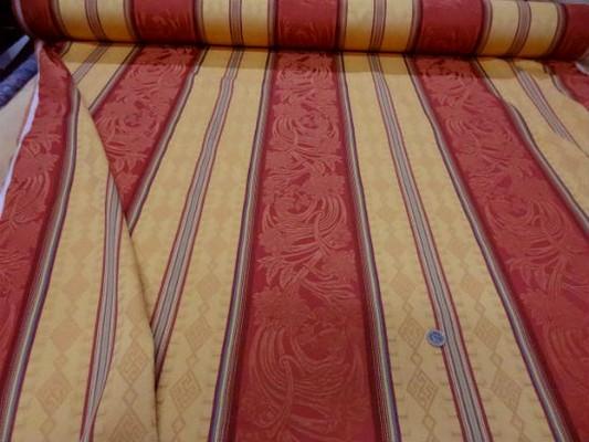 Coton polyester rayures safran jaune paille 3
