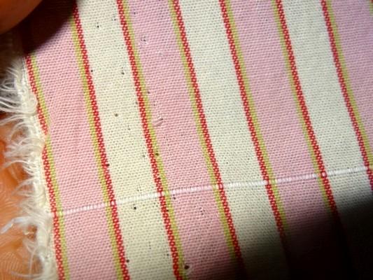 Coton rayé rose-blanc 2