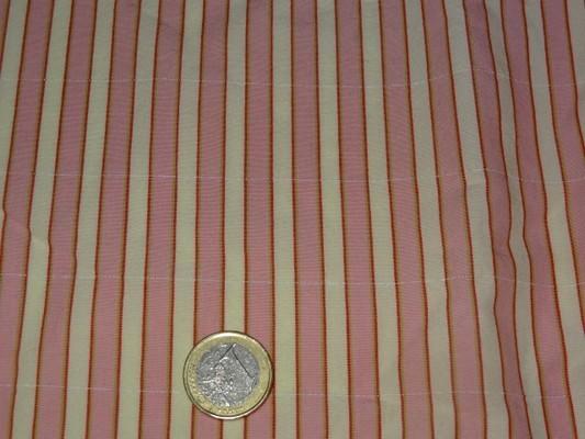 Coton rayé rose-blanc 3