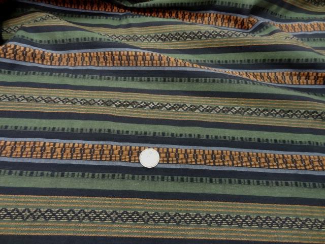 Coton rayures safran kaki trompe l oeil 2